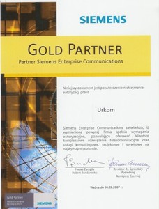 SIEMENS Gold Partner 2007